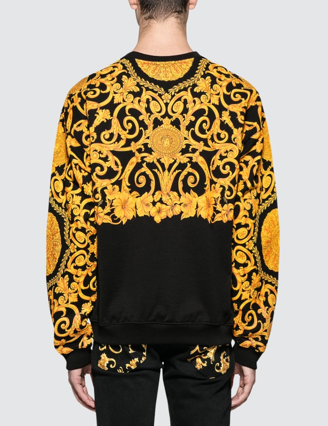 Versace Allover Feather Print Sweatshirt