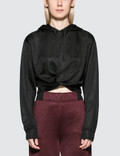 Alexander Wang.T Sleek French Terry Twistfront Hoodie Picutre