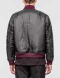Public School Beve Reversible Bomber Jacket Burgundy Camo Men