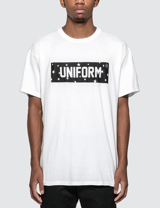 uniform experiment Star Box Logo T-shirt