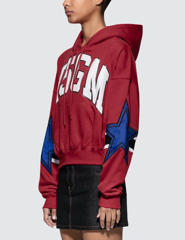 MSGM Stars Intarsia Rugby Hoodie
