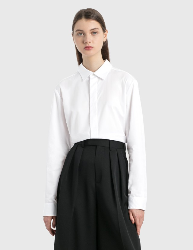 Dion Lee Double Placket Shirt White Women