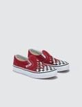 Vans Classic Slip-On Kids (checker Flame) Racing Red/true White Kids