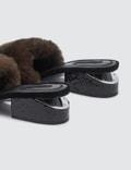 Alexander Wang Lou Brown Fur Black Snake Emboss