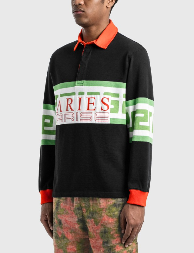 Aries Meandros Rugby Shirt Black Men
