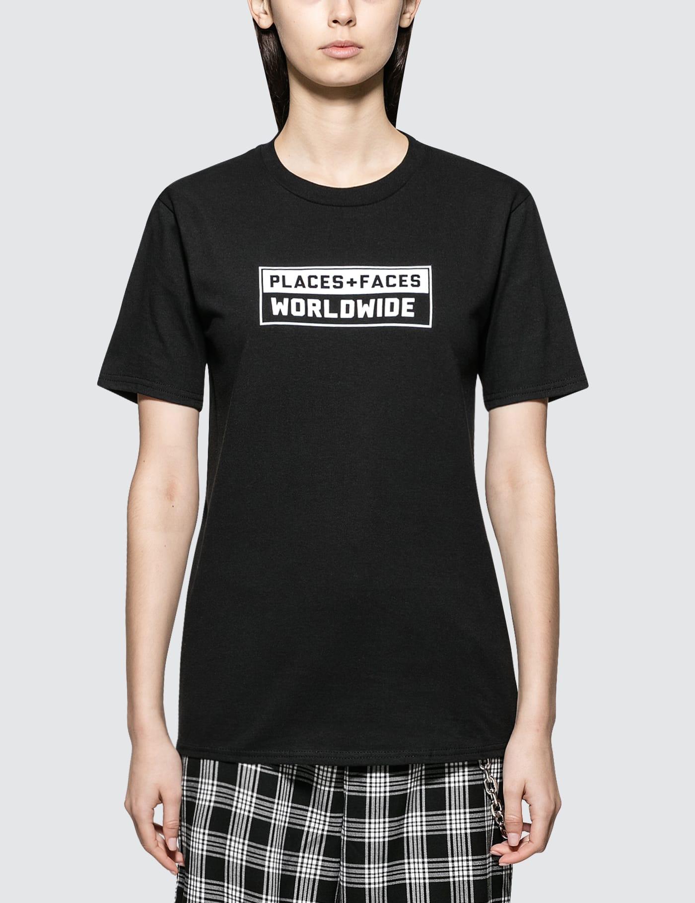 PLACES + FACES | Places + Faces Box Logo T-Shirt | Goxip