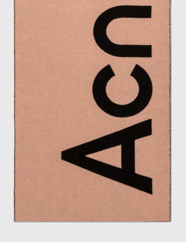 Acne Studios Toronty Logo Contrast Scarf Pink Men