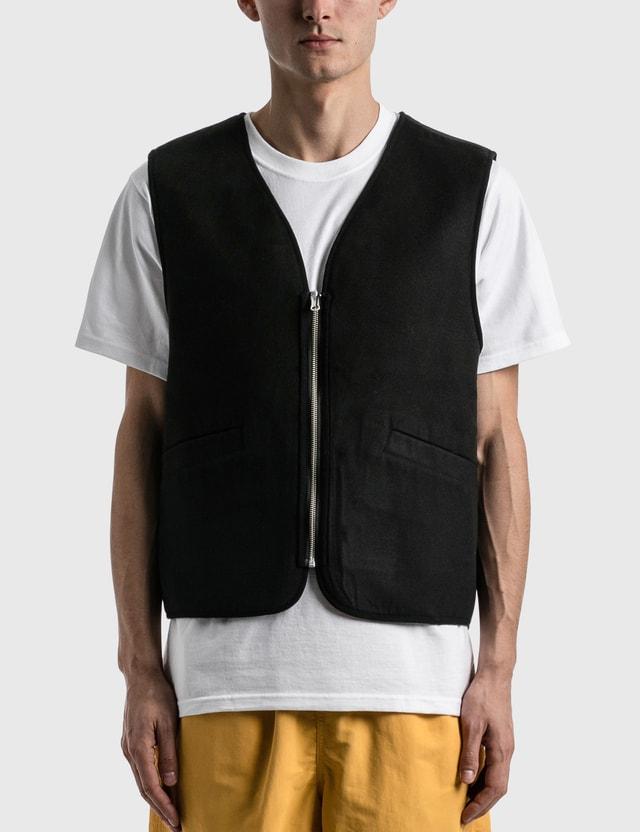 Stussy Block Reversible Vest Mustard Men