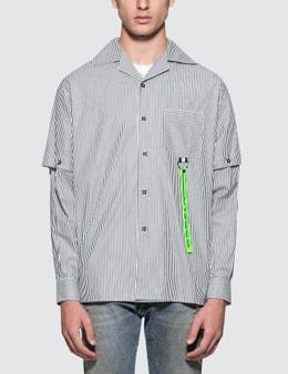 Represent Saville Pinstripe L/S Tech Shirt