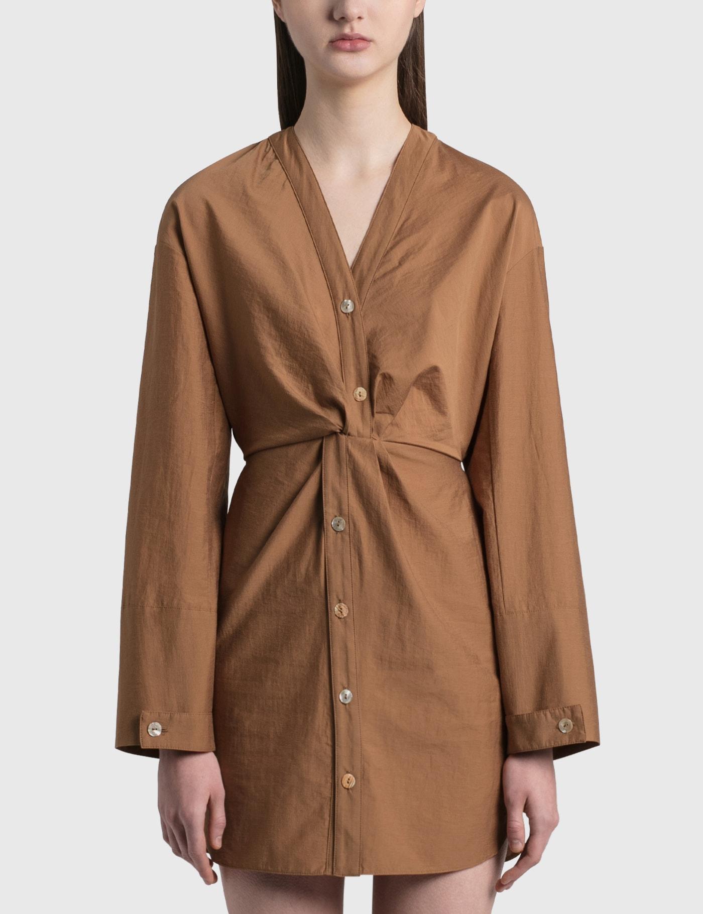 Nanushka JOHANNA TWIST FRONT DRESS
