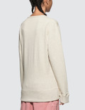 JW Anderson Melange Jersey Cutout Jwa Anchor Sweat Top