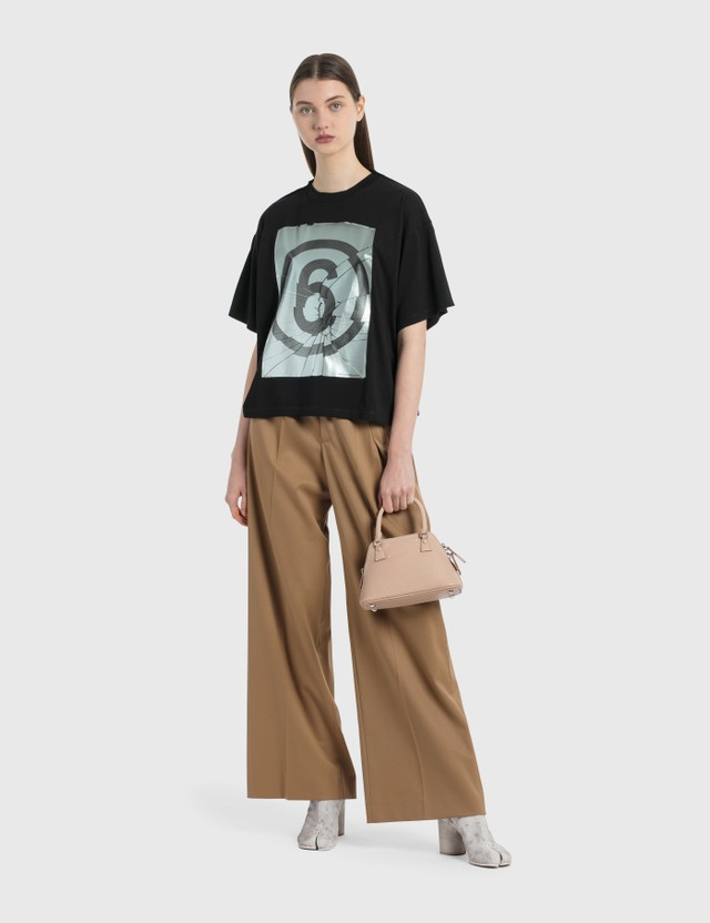 MM6 Maison Margiela 6 Logo Graphic T-Shirt Black Women