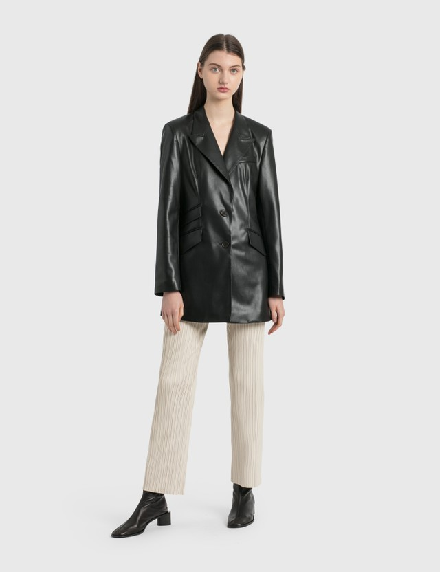 Nanushka Char Pleated Vegan Leather Pants