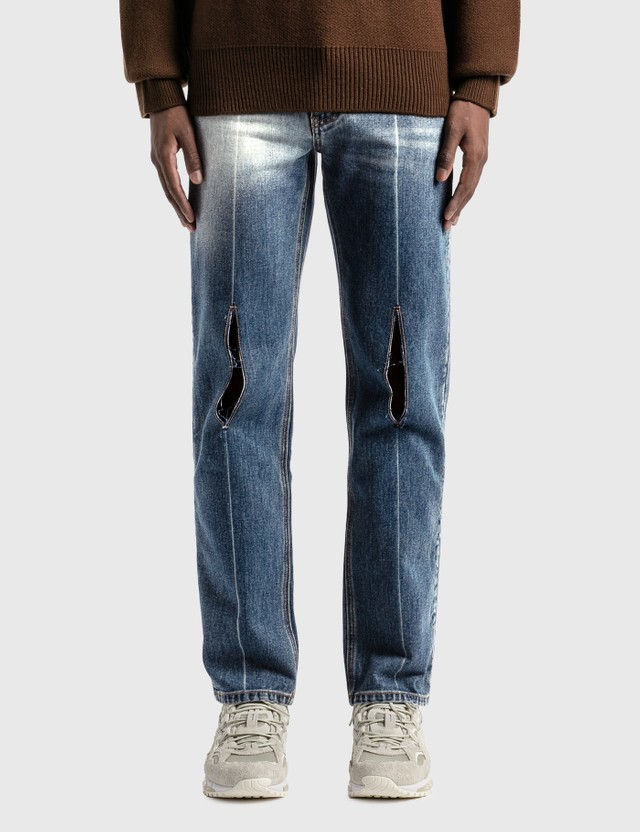 Ader Error Pollshing Jeans Blue Men