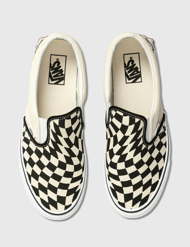 Vans 클래식 슬립-온 Warp Checker/classic White Men