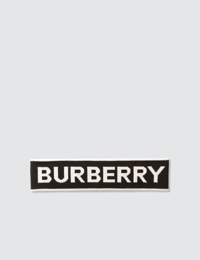 Burberry Logo Intarsia Wool Blend Headband