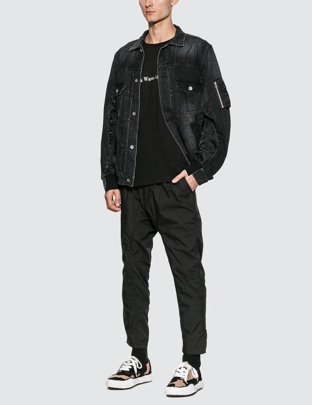 Sacai MA-1 Denim Jacket Black Men