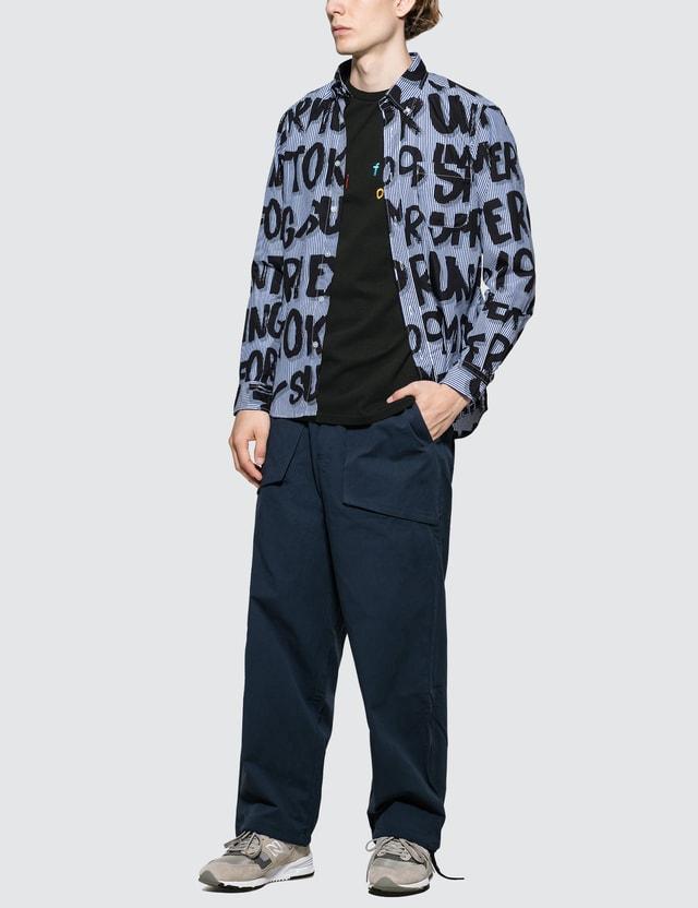 uniform experiment Colorful Embroidery T-Shirt Black Men