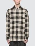 Bottega Veneta Plaid Long Sleeve Pocket Shirt Picutre