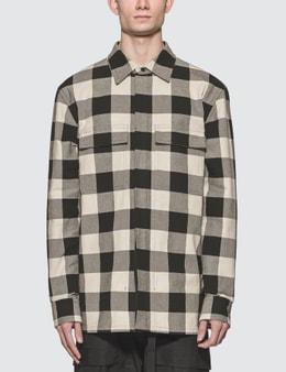 Bottega Veneta Plaid Long Sleeve Pocket Shirt