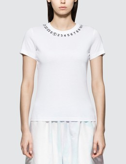 Maison Margiela Light Pure Cotton Jersey With Numerical Logo