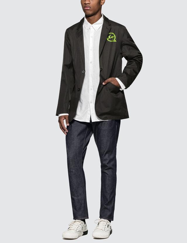 Denim By Vanquish & Fragment Iconic Neon Logo Functional Blazer Jacket