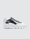 MM6 Maison Margiela Silver & White Platform Sneakers 사진