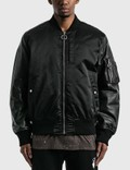 Off-White Arrow Leather Bomber Jacket Picture