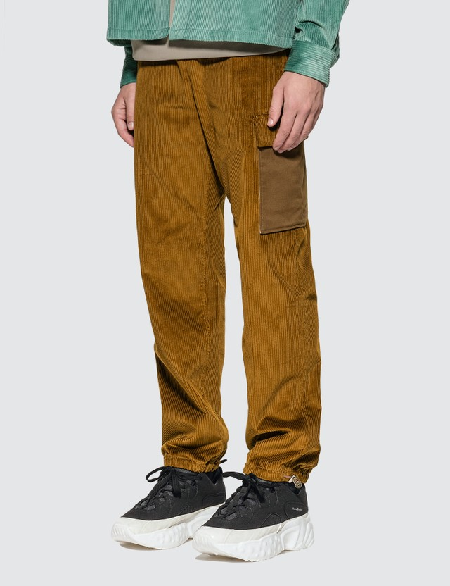 Acne Studios Payden Corduroy Trousers Oil Yellow Men