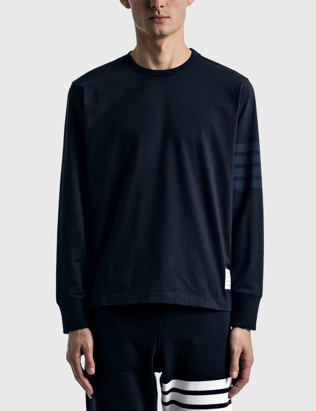 Thom Browne Long Sleeve Rugby T-shirt Navy Men