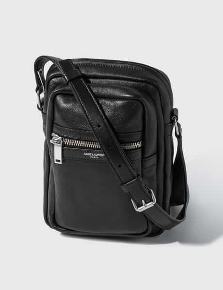 생 로랑 Saint Laurent Croco Embossed Leather Crossbody Bag