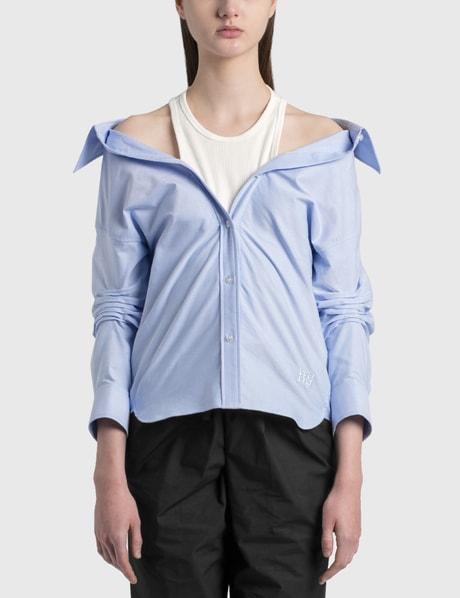 알렉산더 왕.T 이너 탱크 셔츠 Alexander Wang.T Off-Shoulder Shirt With Inner Tank