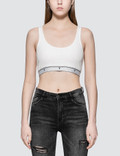 Alexander Wang.T Compact Rib Crop Tank With T Logo Elastic 사진