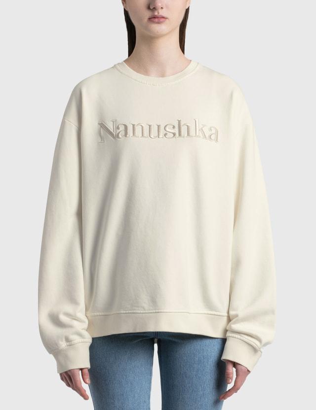 Nanushka Remy Logo Sweatshirt Off White Women