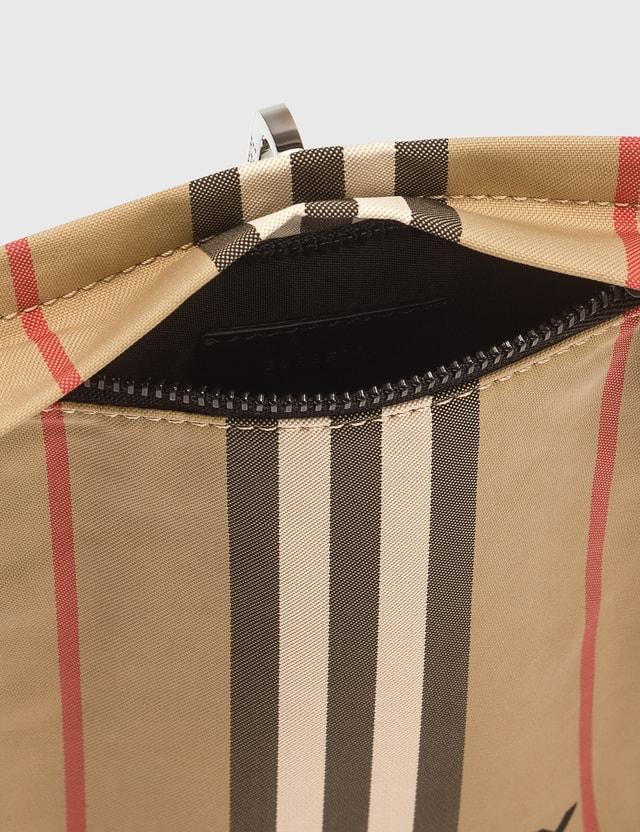 Burberry Iconic Stripe Pouch Archive Beige Women