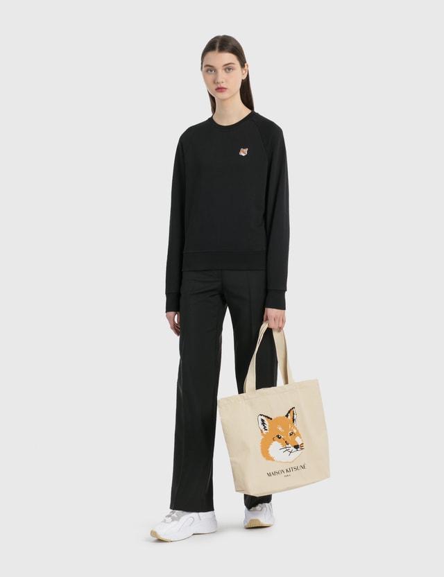 Maison Kitsune Fox Head Patch Sweatshirt Black Women