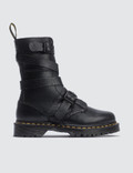 Dr. Martens 10 Eye Boots With Strap Picture