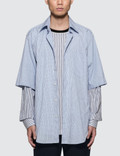 3.1 Phillip Lim S/S Striped Double Layered Buttondown Shirt Picture