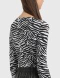 MM6 Maison Margiela Zebra 바디수트 Zebra Print White & Black Women