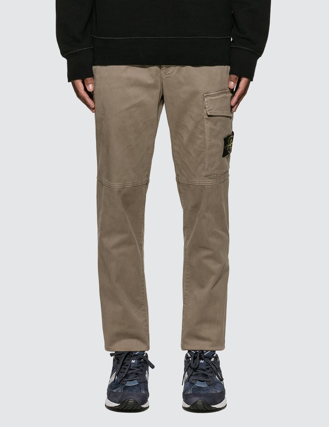 Slim Cotton Twill Pants