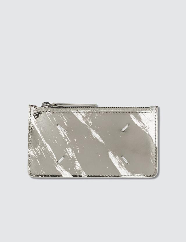 Maison Margiela Stitch detail Leather Card Holder