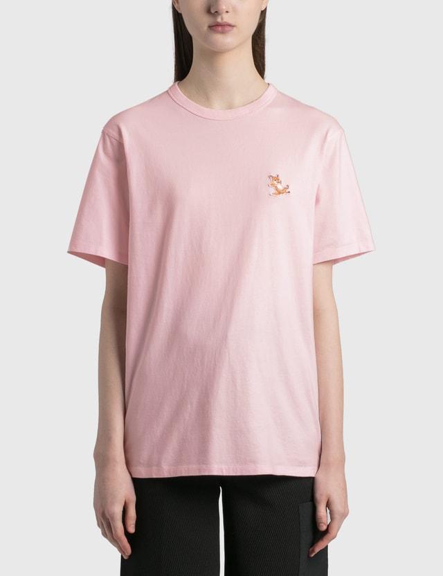 Maison Kitsune Chillax Fox Patch Classic T-shirt Light Pink Women