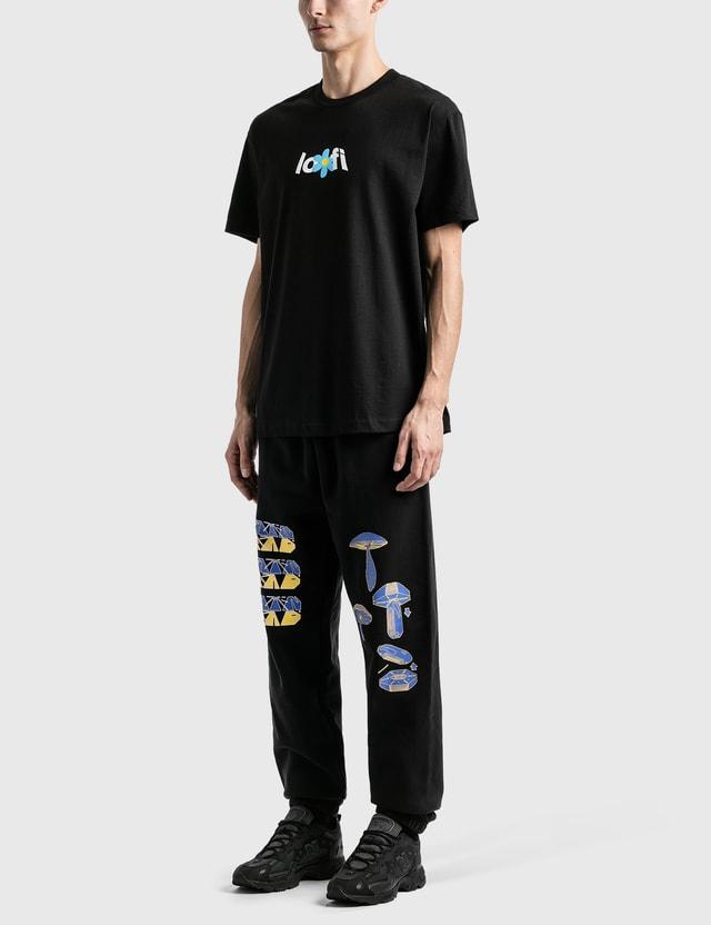 Lo-Fi Flowers T-Shirt Black Men