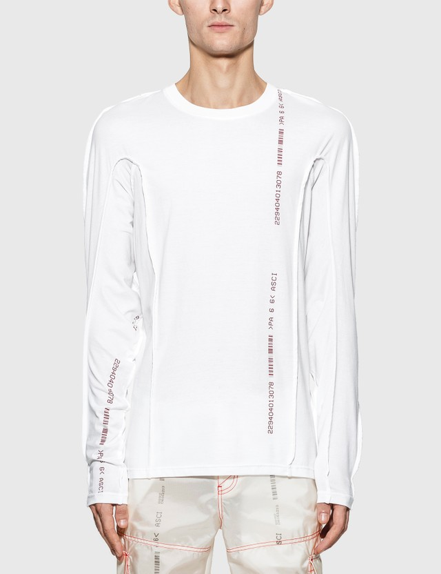 KANGHYUK Cotton Reversible Long Sleeve T-Shirt White Men