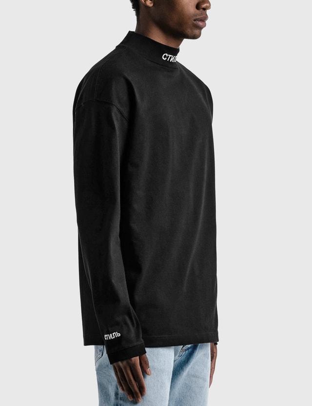 Heron Preston CTNMB Turtleneck Long Sleeve T-shirt Black Men