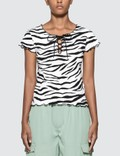 X-Girl Zebra Print Lace Up T-shirt Picture