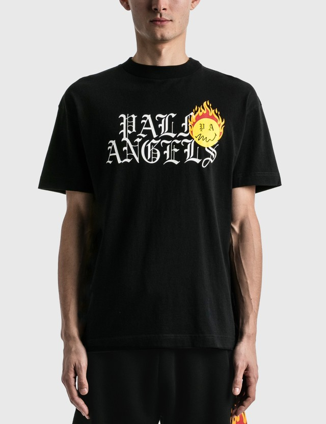 Palm Angels Burning Head Logo T-shirt Black Men