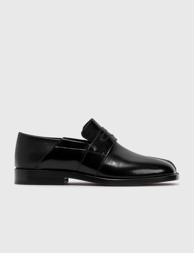 Maison Margiela Tabi Leather 로퍼 Black Women