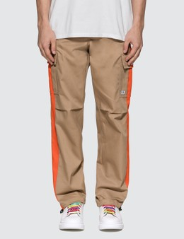 MSGM Cargo Pants With Side Stripes
