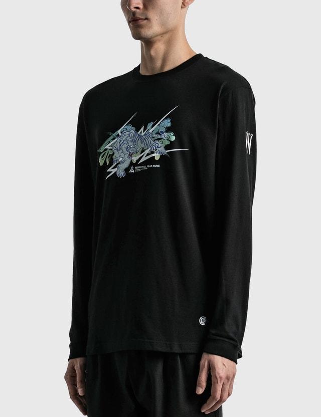 Kinjaz Vanquish X Kinjaz Tiger Graphic Long Sleeve T-shirt Black Men